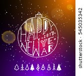 show background. happy new year ... | Shutterstock .eps vector #545035342