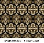 damask floral seamless pattern... | Shutterstock . vector #545040205