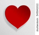 red heart vector illustration... | Shutterstock .eps vector #545041012