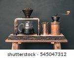 coffee drip set | Shutterstock . vector #545047312