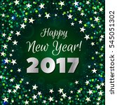 happy new year 2017 greeting...   Shutterstock .eps vector #545051302