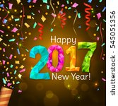 happy new year 2017 greeting... | Shutterstock .eps vector #545051356