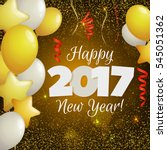 happy new year 2017 greeting... | Shutterstock .eps vector #545051362