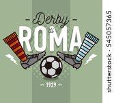 rome derby in italian label...   Shutterstock .eps vector #545057365