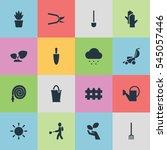 set of 16 editable farm icons....