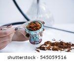 Hookah Bowl With Tobacco Leaf