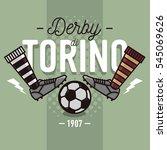 turin derby in italian label... | Shutterstock .eps vector #545069626