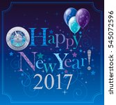 happy new year 2017 logo icon.... | Shutterstock .eps vector #545072596