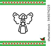web line icon. angel with star  ...   Shutterstock .eps vector #545074225