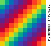 pixel rainbow background... | Shutterstock .eps vector #545076862