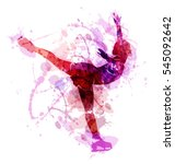 colored vector silhouette... | Shutterstock .eps vector #545092642