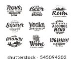 alcoholic drinks. collection... | Shutterstock .eps vector #545094202
