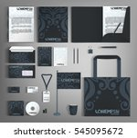 corporate identity template... | Shutterstock .eps vector #545095672