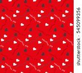 valentines day vintage... | Shutterstock .eps vector #545099356