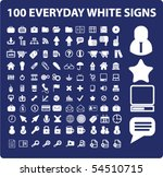 100 everyday white signs. vector | Shutterstock .eps vector #54510715