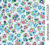 seamless pattern with flower  ... | Shutterstock .eps vector #545112265