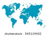 blue world map vector. | Shutterstock .eps vector #545119432