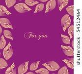 frame for decorating postcards. ... | Shutterstock .eps vector #54512464