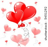 red hearts greeting card | Shutterstock .eps vector #5451292