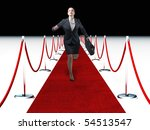 businesswoma run on 3d  red... | Shutterstock . vector #54513547