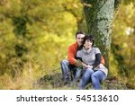 portrait of a young couple in... | Shutterstock . vector #54513610