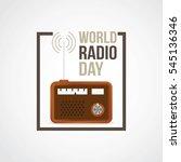 world radio day vector... | Shutterstock .eps vector #545136346