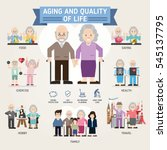 aging and quality of life.... | Shutterstock .eps vector #545137795