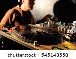 vinyl decks in close up on a... | Shutterstock . vector #545143558