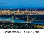 Stock photo vancouver downtown from west vancouver at twilight time 545143786