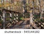 Bridge Along A Hiking Trail...