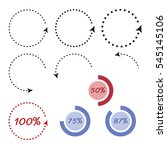 infographic circle arrows.... | Shutterstock .eps vector #545145106