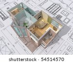 3d isometric view of the cut... | Shutterstock . vector #54514570