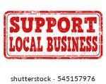support local business grunge... | Shutterstock .eps vector #545157976