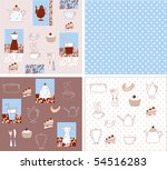 vector a background ware a... | Shutterstock .eps vector #54516283