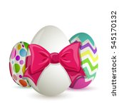 colorful easter eggs isolated...   Shutterstock .eps vector #545170132