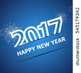 2017 happy new year on dark... | Shutterstock .eps vector #545179342