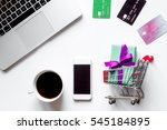 concept online shopping with... | Shutterstock . vector #545184895