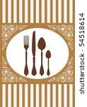 menu of restaurant card  vector ... | Shutterstock .eps vector #54518614
