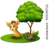 vector illustration of cartoon... | Shutterstock .eps vector #545190712