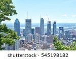 scenic view of summer montreal | Shutterstock . vector #545198182
