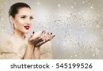 upscale woman wearing gold... | Shutterstock . vector #545199526