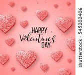happy valentine's day festive... | Shutterstock .eps vector #545202406