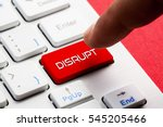 disrupt word concept button on... | Shutterstock . vector #545205466