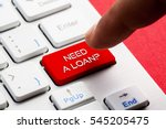 need a loan  word concept... | Shutterstock . vector #545205475