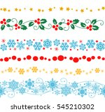 vector set of decorative... | Shutterstock .eps vector #545210302