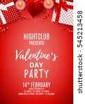 red party flyer for happy... | Shutterstock .eps vector #545213458