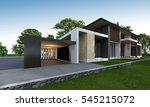 3d rendering of tropical house... | Shutterstock . vector #545215072