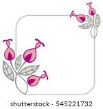 beautiful frame with decorative ... | Shutterstock .eps vector #545221732