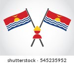 kiribati emblem construction... | Shutterstock .eps vector #545235952