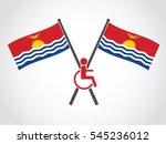 kiribati emblem disability | Shutterstock .eps vector #545236012